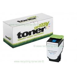 My Green Toner für Lexmark CX 410 DE cyan * kompatible Rebuilt Kartusche