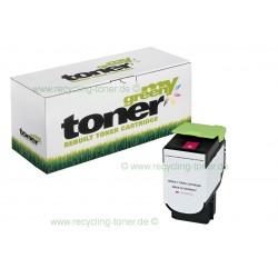My Green Toner für Lexmark CX 410 DE magenta * kompatible Rebuilt Kartusche